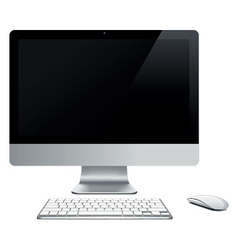 abstract desktop computer vector image vector image