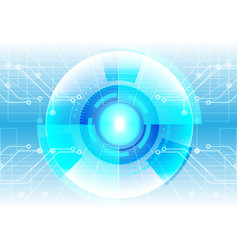 Abstract technology circle with circuit background vector