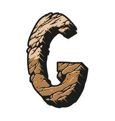 Alphabet letter g desert design concept vector