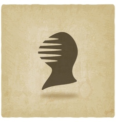 antique helmet old background vector image