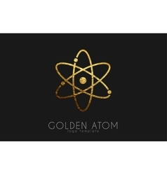atom symbol atom logo design color atom science vector image