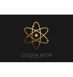 Atom symbol logo design color science vector