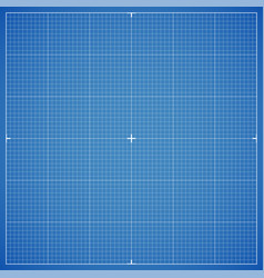 Blue drawing millimeter paper with linear vector