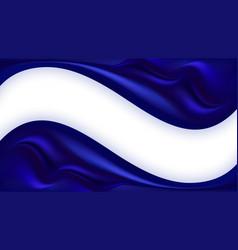 Blue silk wavy background smooth satin texture vector