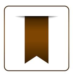 Brown bookmark symbol vector