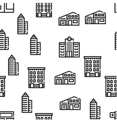 Building architecture seamless pattern vector
