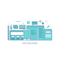business blogging commercial blog posting line vector image