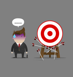 businessman miss all target vector image