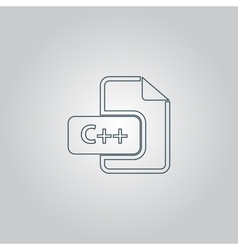 C development file format flat icon vector
