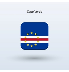 Cape Verde flag icon vector