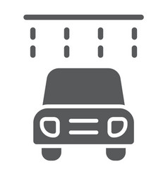 car washing glyph icon clean and service auto vector image