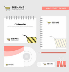 cart logo calendar template cd cover diary and vector image