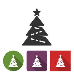 christmas tree icon in different variants vector image