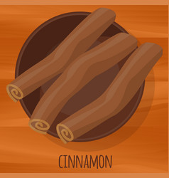 Cinnamon flat design icon vector