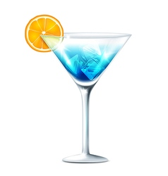 Cocktail blue vector