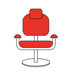 Color silhouette cartoon comfortable red desk vector