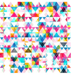 colored triangle seamless texture vector image