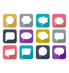 Colorful flat speech bubbles vector image