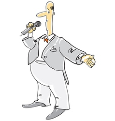 Compere with microphone vector image