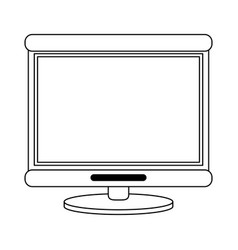 Computer monitor icon imag vector