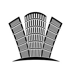 Contour buildings line sticker design vector