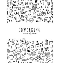 coworking space seamless pattern for your design vector image