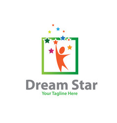 dream star logo designs vector image