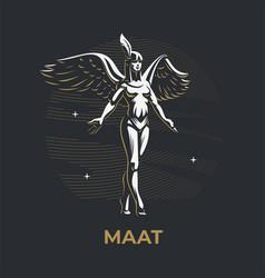 Egyptian goddess maat vector