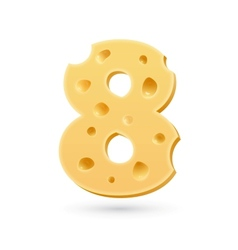 Eight cheese number vector image