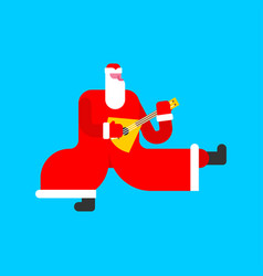 Father frost russian santa claus dancing vector
