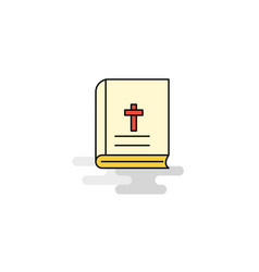 flat holy bible icon vector image