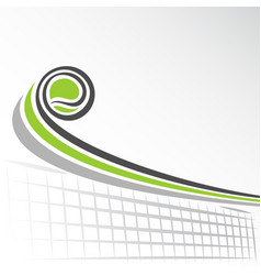 flying lawn tennis ball vector image