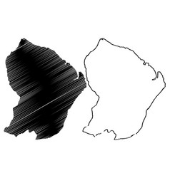 french guiana map vector image