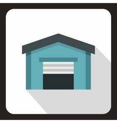 Garage icon in flat style vector