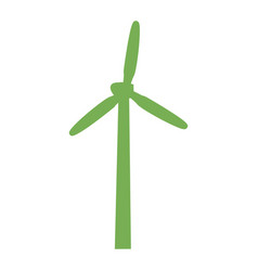 green wind turbine icon simple style vector image