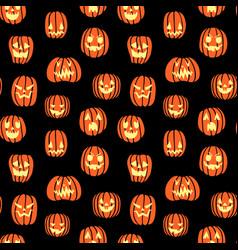 halloween scary pumpkin pattern big vector image