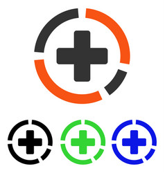 Health care diagram flat icon vector