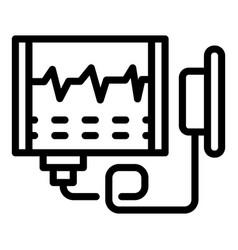 Healthcare defibrillator icon outline style vector