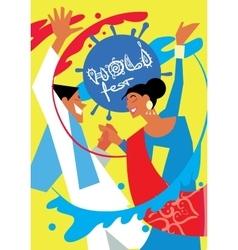 Holi festival vector image
