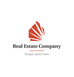 Home and real estate logo vector