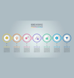 infographic design business concept with 7 vector image