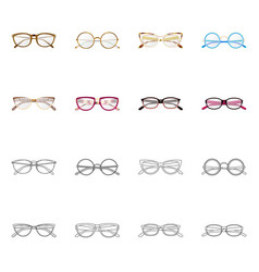 Isolated object glasses and frame logo vector