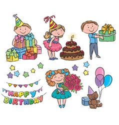Kids birthday vector image