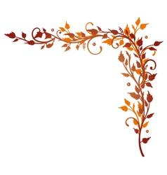 Leaves border autumn vector