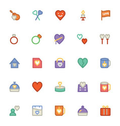 Love and Romance Colored Icons 6 vector