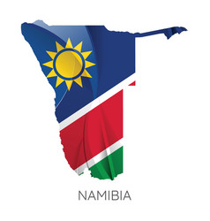 map namibia with flag vector image