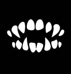 Monster mouth with sharp teeth vector