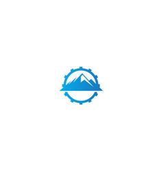 Mountain adventure gear logo vector