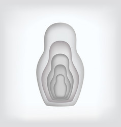 nesting dolls inserted into each other are made in vector image