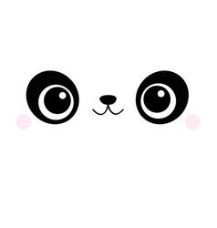 Panda square face head icon cartoon funny baby vector